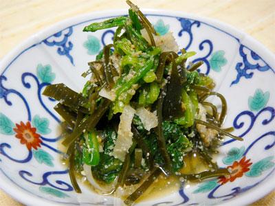 大根と菊菜と昆布の胡麻あえ